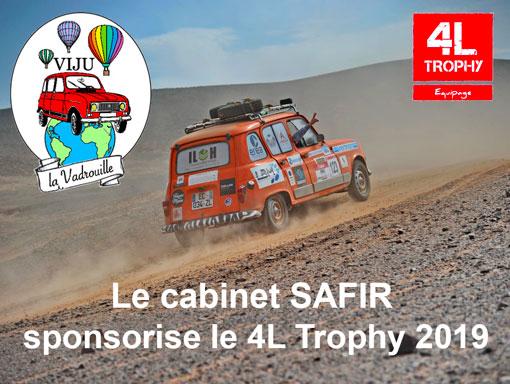 Le cabinet Safir sponsorise le 4L trophy 2019
